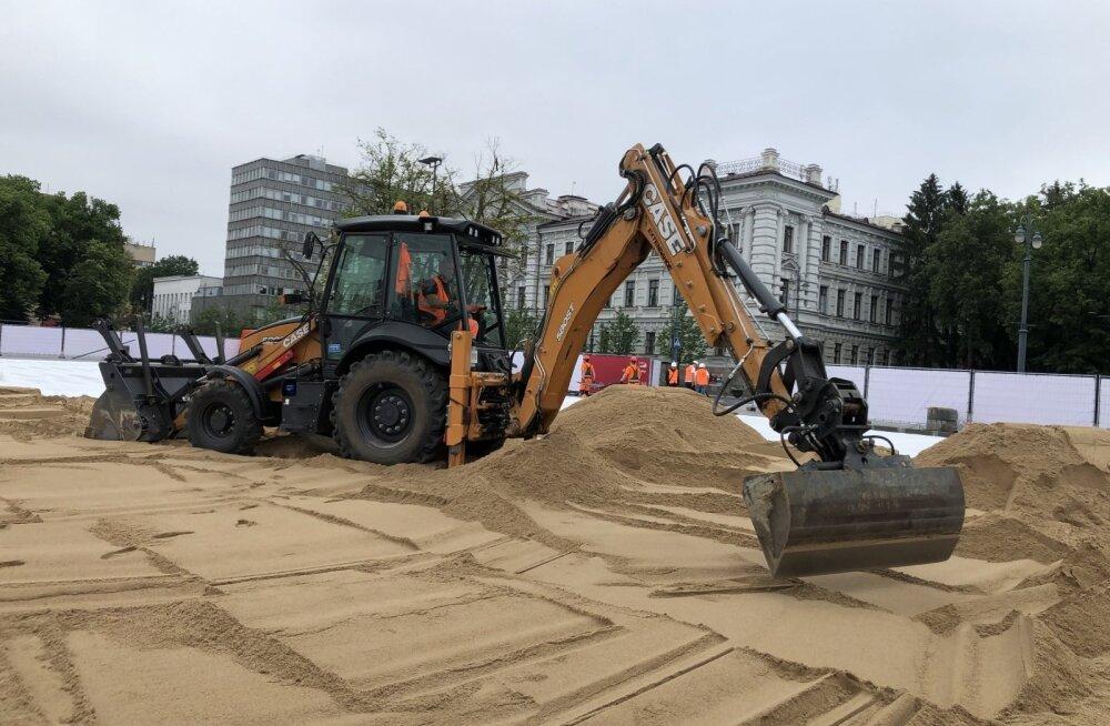 В столице Литвы появится пляж — на площади в центре города