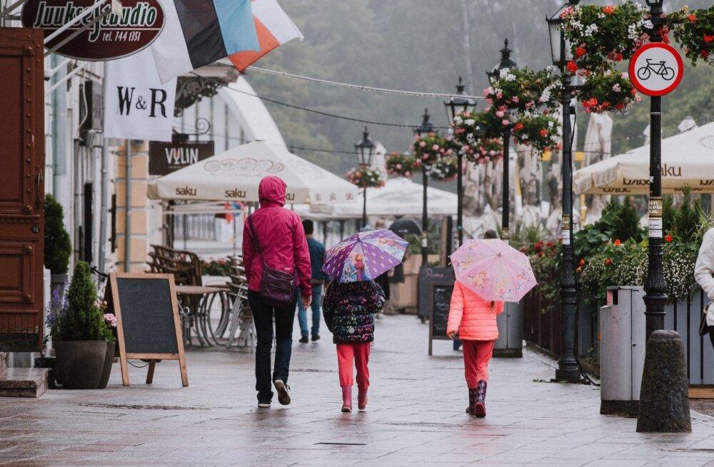 Lähipäevad toovad Eestisse vihma ja jaheda ilma