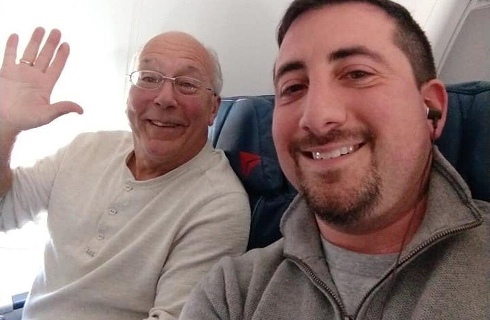 Tõeliselt armas! Isa lendas kogu jõuluõhtu lennukiga, et olla koos stjuardessist tütrega