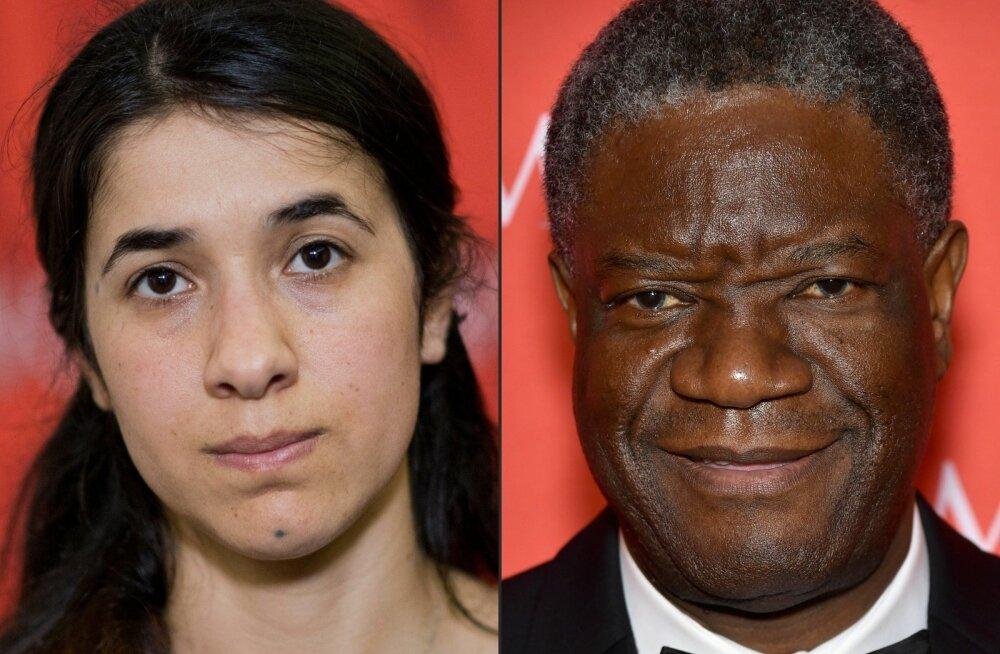 Nobeli rahupreemia anti tänavu seksuaalvägivalla relvana kasutamise vastu võitlejatele
