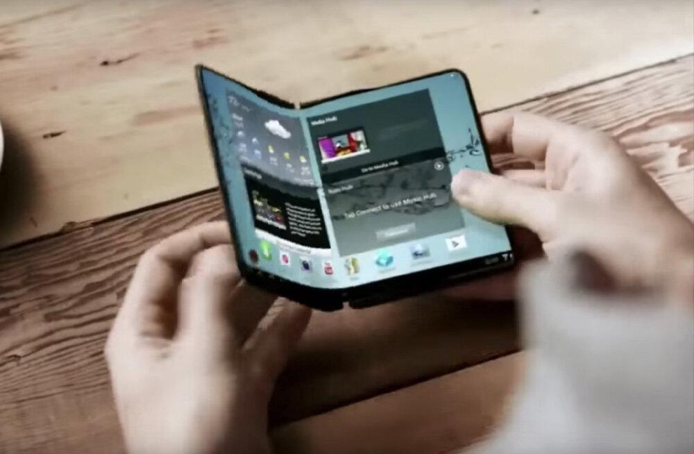 Telefon on alles algus: Samsung teeb volditava ekraani sülearvutile
