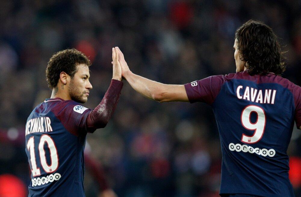 Neymar ja Edinson Cavani.