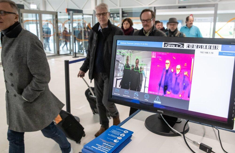 Termokaamera Tallinna reisisadama D-terminalis