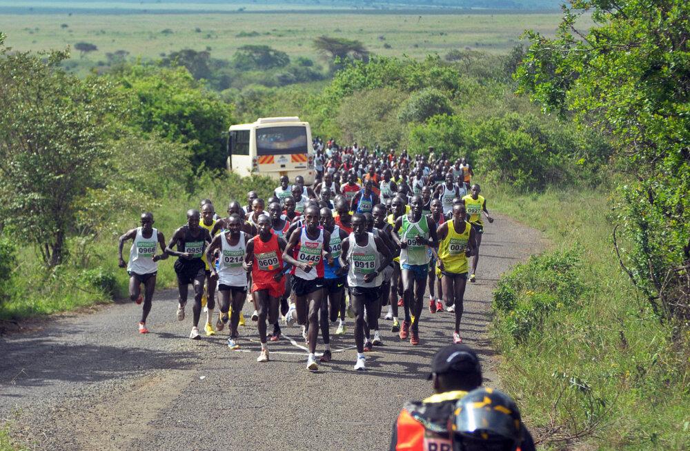 VIDEO: Keenia maratonil sohiga teise koha saanud mees arreteeriti