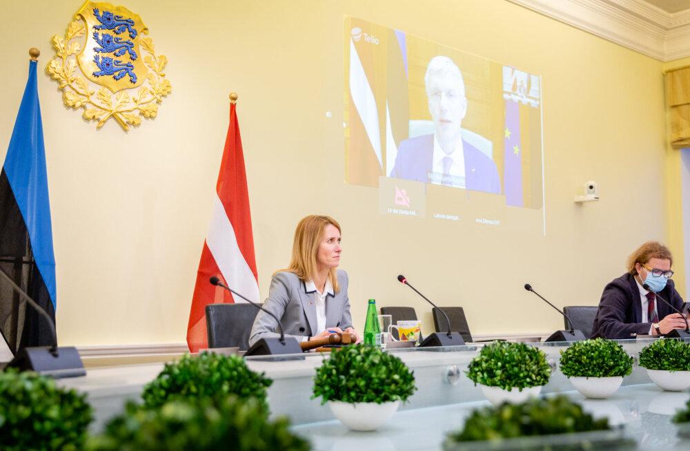 Kallas arutas Läti peaministriga koroonapandeemiaga võitlemist ja taristuprojekte