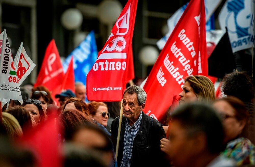 Eelmisel reedel tulid Portugali avaliku sektori töötajad tänavatele, et nõuda kõrgemat palka.