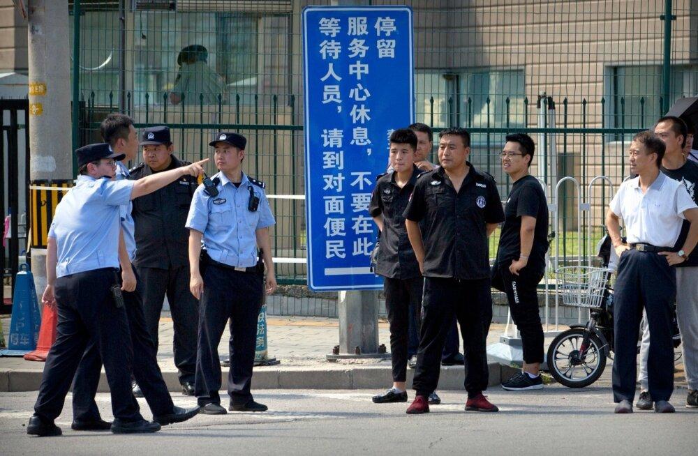 USA saatkonna juures Pekingis toimus väike plahvatus