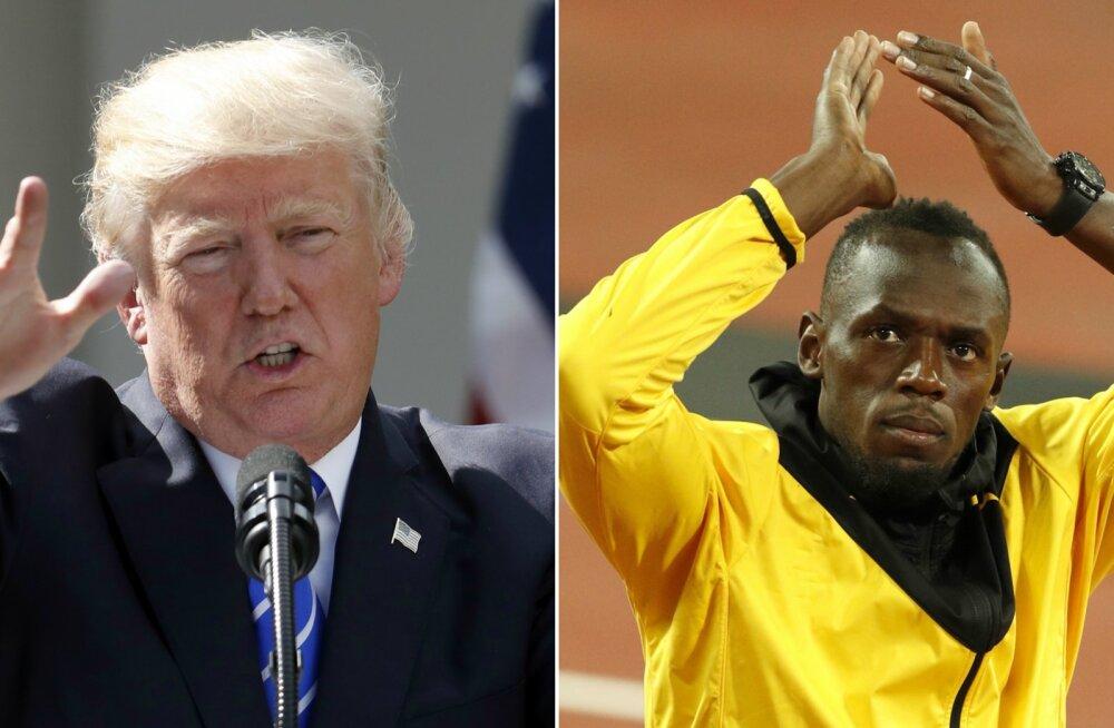 Trump kiskus oma spordisõtta ka Usain Bolti