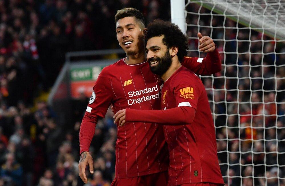 Roberto Firmino ja Mohamed Salah