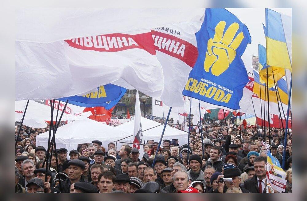 Ukraina opositsioon nõuab valimisrikkumiste uurimist
