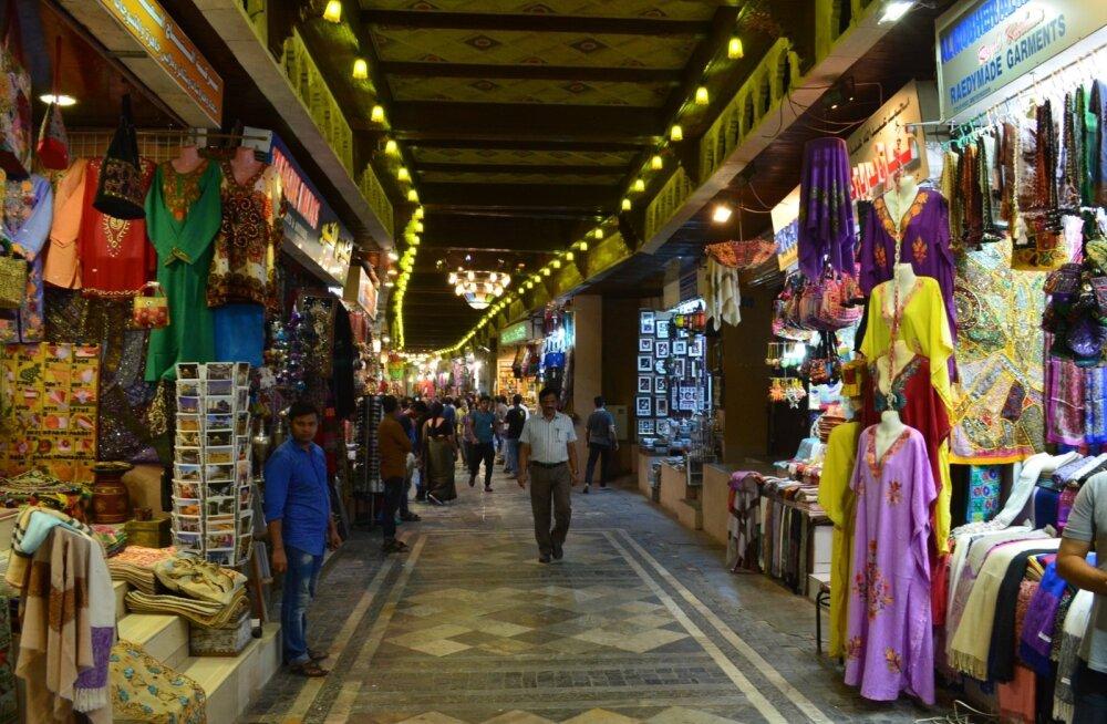Pealinna ajaloolises piirkonnas Muttrah's paiknev turg