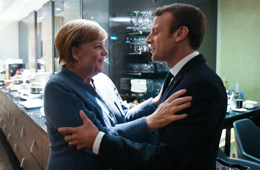 Merkel: Macroni ettepanekud on Euroopa tuleviku tähtsad ehituskivid