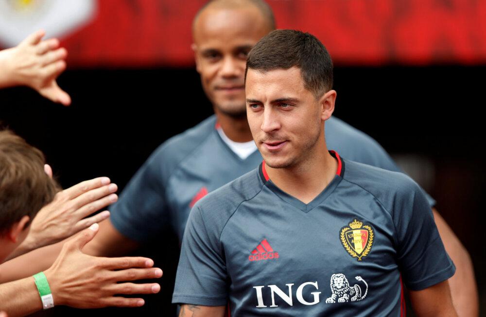 Õnnetu ja rumal vigastus: Hazard lõhkus hüppeliigese trenni lõpus pealelööke tehes