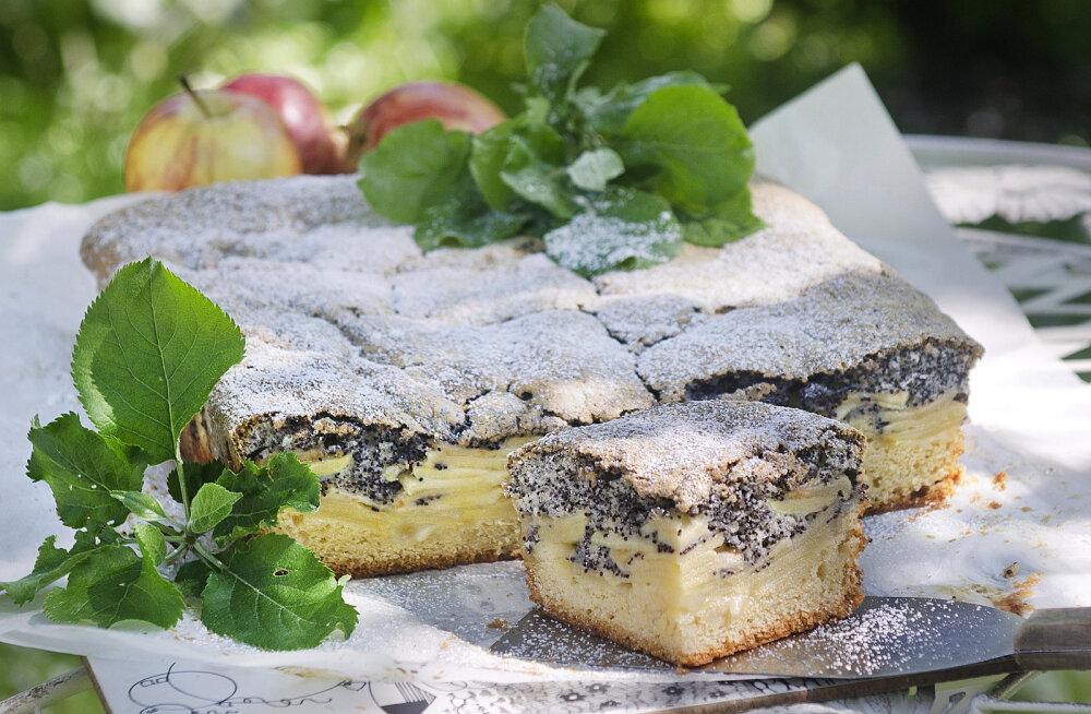 RETSEPT | Oi, kui ahvatlev! Lia Virkuse õunaplaadikook mooniseemnetega