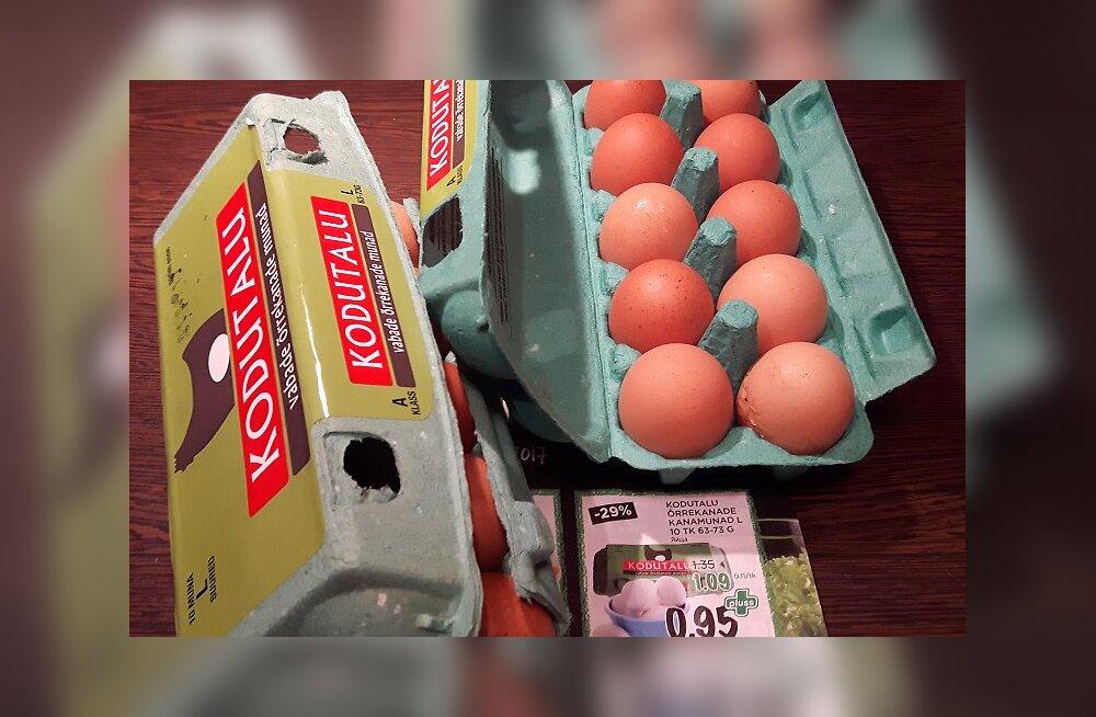 FOTOD: Pettumus Maksimarketis: reklaamlehel lubati valgeid mune, karbis olid hoopis pruunid