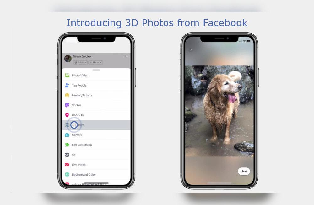 Facebook hakkab meie tavalisi pilte ruumilisteks väänama