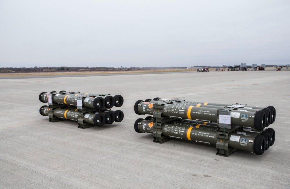 Õhutõrje raketisüsteemi Mistral rakettide saabumine
