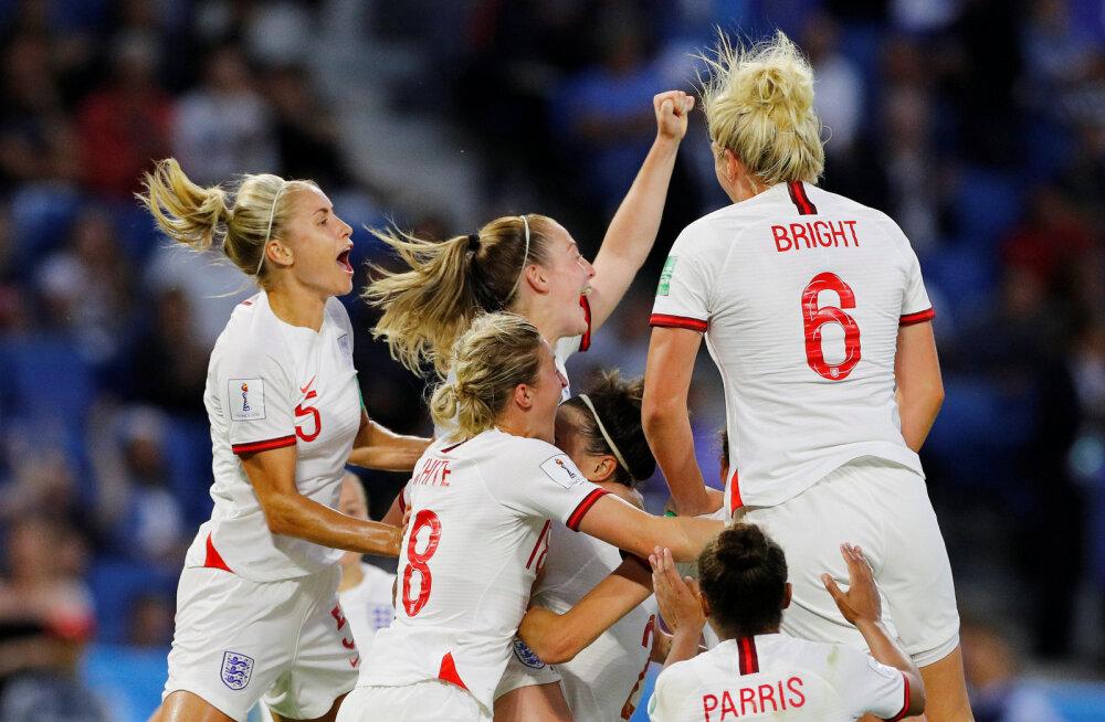 Naiste jalgpalli MM-i esimene poolfinalist on Inglismaa