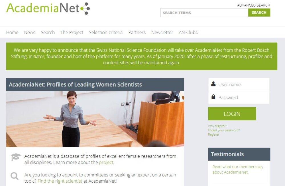 Naissoost tippteadlaste portaali AcademiaNet lisandub 80 Eesti teadlast