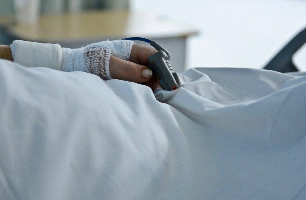 Haiglas. Foto on illustratiivne.