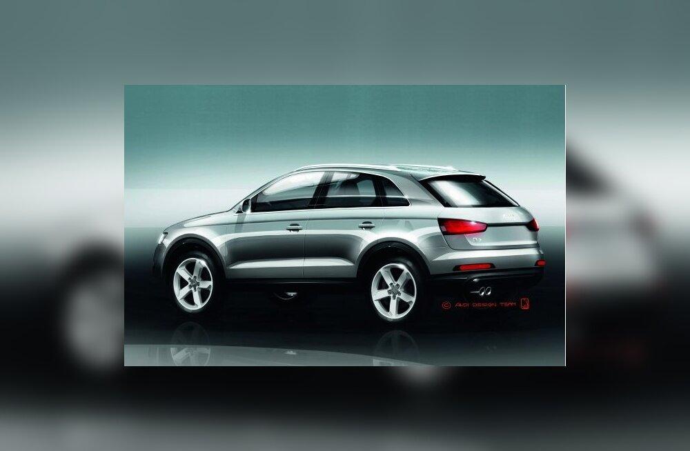 Audi Q3 suurematest pereliikmetest eriliselt ei erine