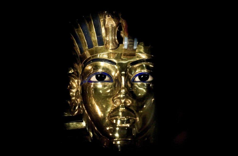 Kuulus Tutanhamoni kullast surimask