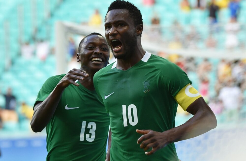Nigeeria jalgpallikoondise kapten John Obi Mikel.