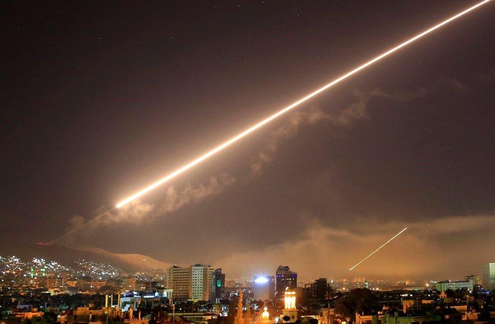 Süüria armee baase tabasid raketid, hukkusid iraanlased