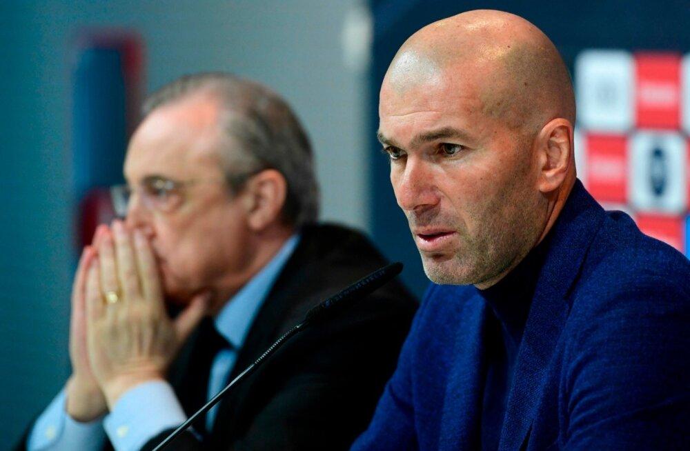 Zinedine Zidane teatas pressikonverentsil, et paneb ameti maha. President Florentino Perez peab nüüd tõsiselt mõtlema, mis saab edasi.
