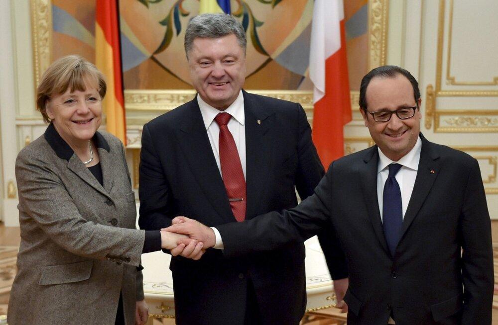 Leaders of France and Germany visit Kiev