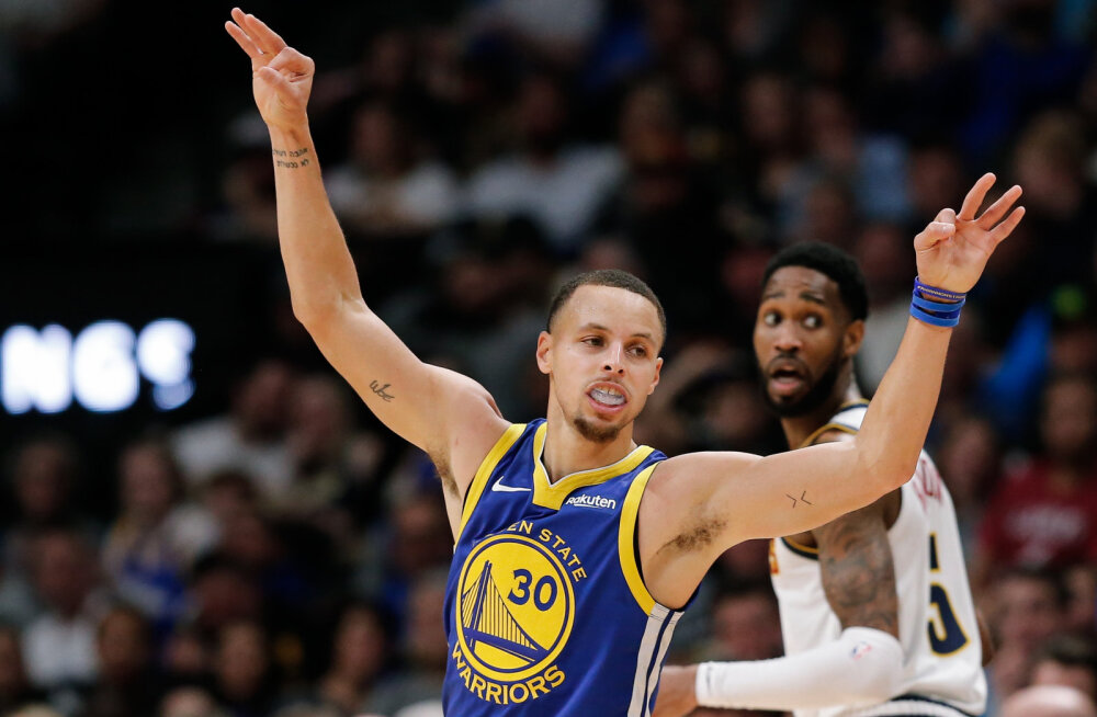 VIDEO | NBA-s nähti pöörast skooriõhtut: kolm meeskonda viskasid üle 140 punkti, Warriors püstitas NBA rekordi