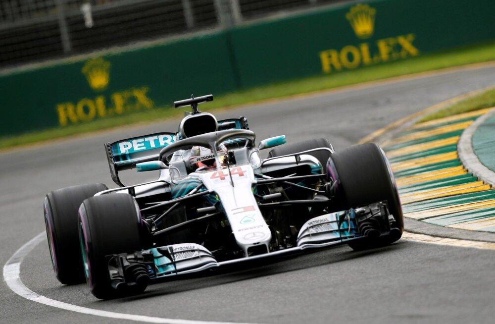 Lewis Hamilton Austraalias.