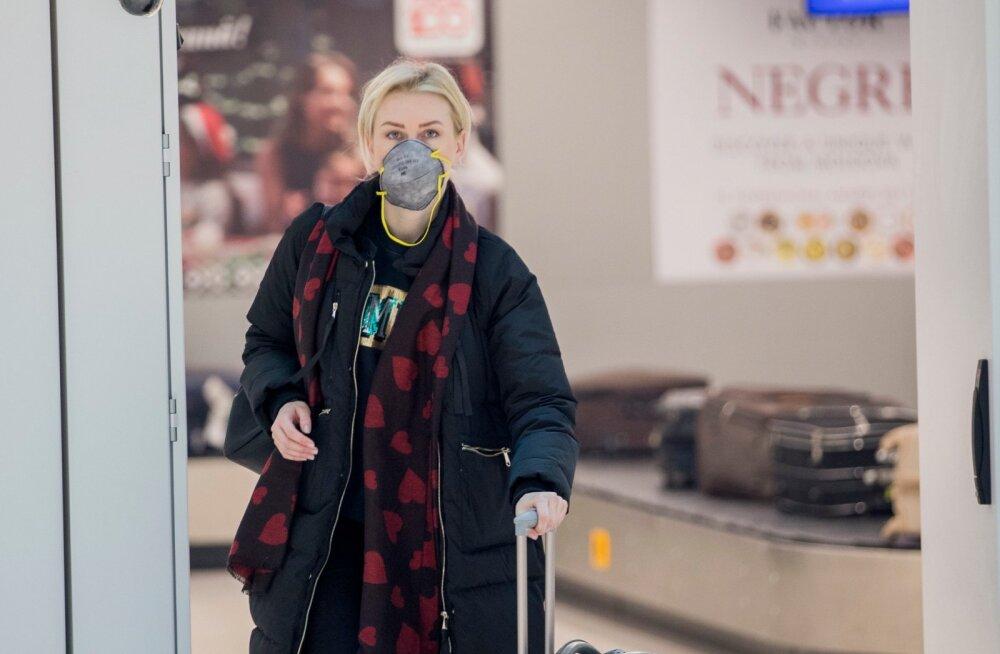 Maskiga reisija Moldova lennujaamas