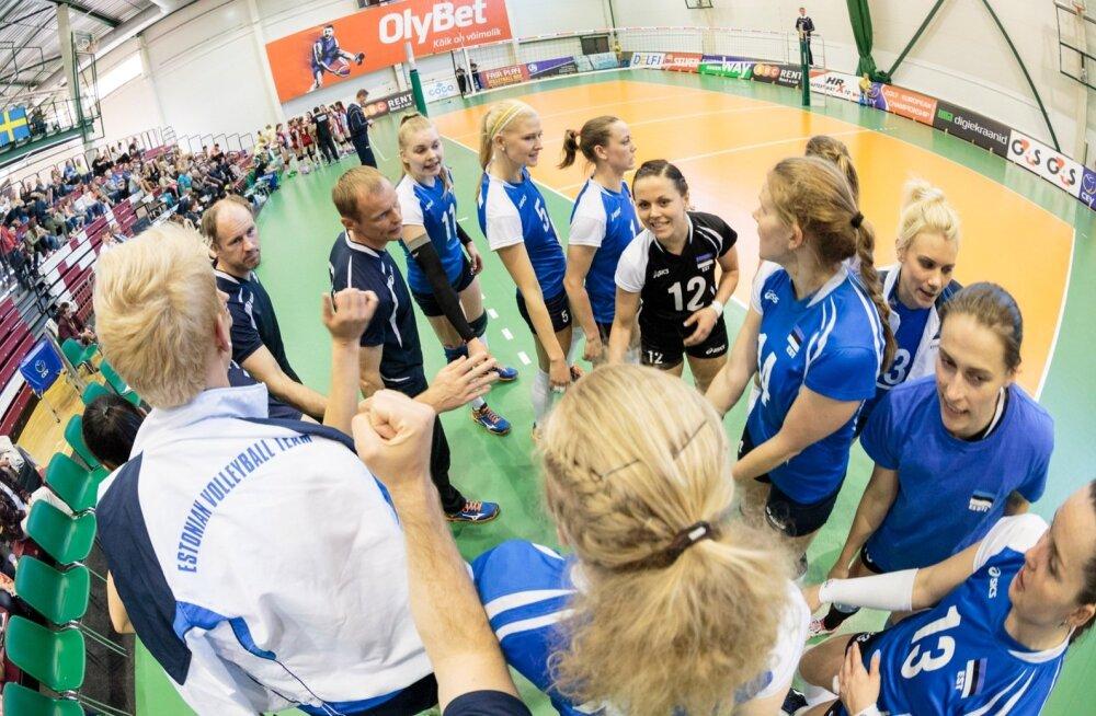 Võrkpallinaiskond alustas EM-valiksarja kindla võiduga Luksemburgi üle