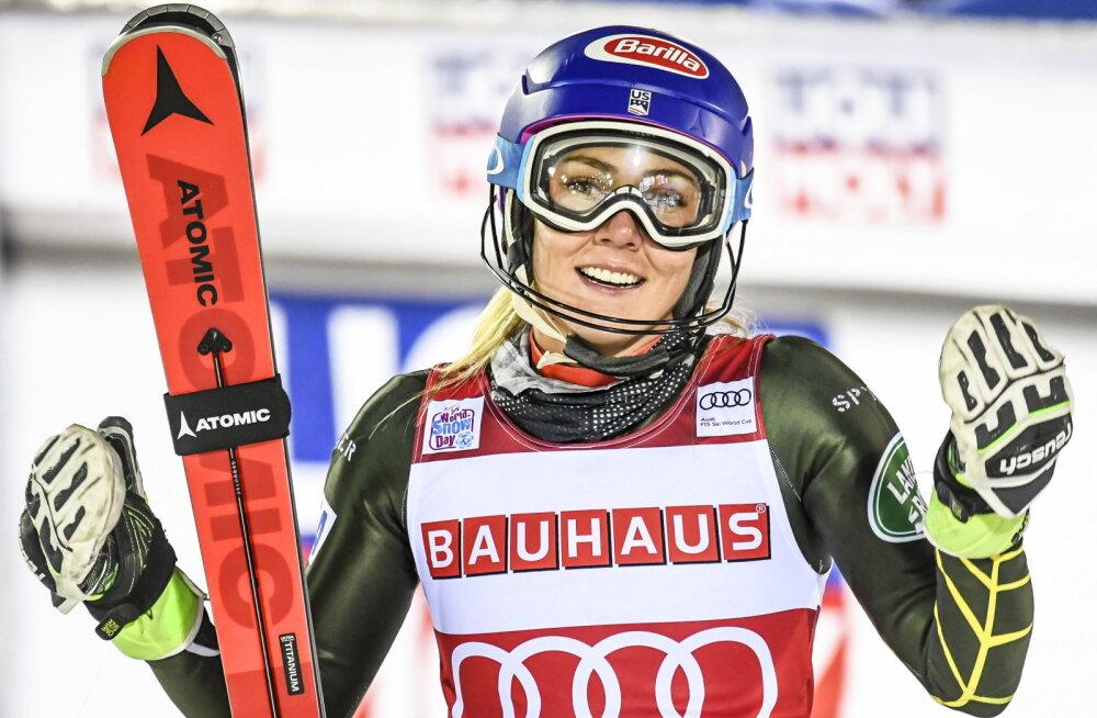 Mäesuusakuninganna Shiffrin ületas Rootsi legendi tippmargi