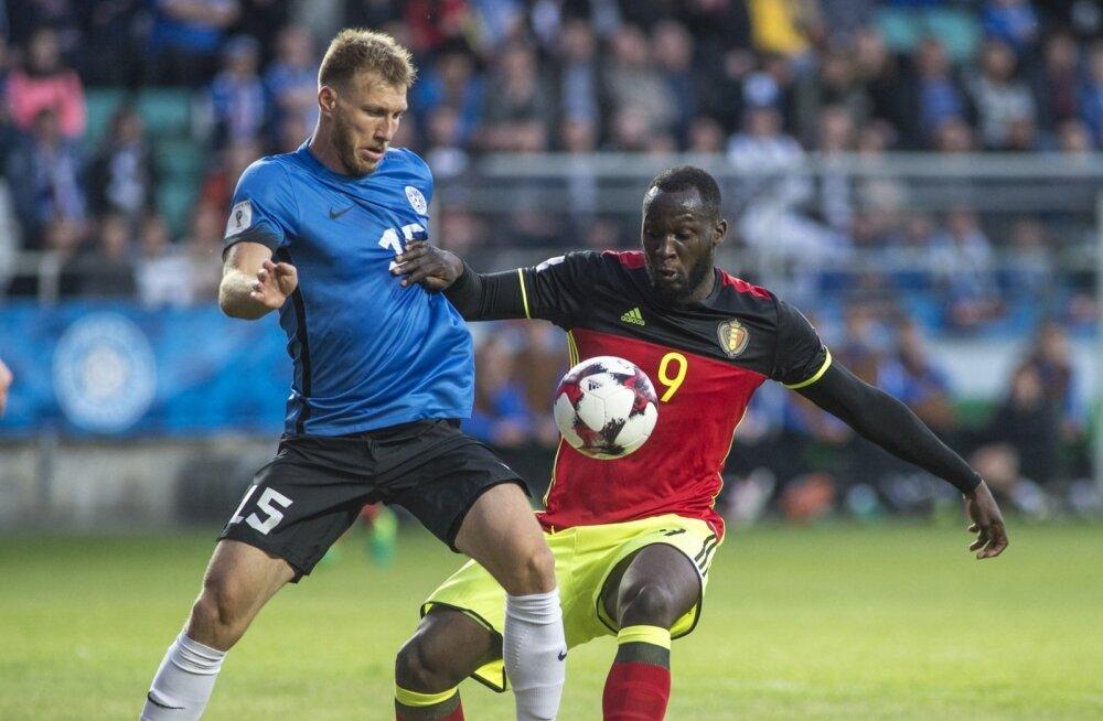 Eesti jalgpallikoondise kapten Ragnar Klavan kohtumises Belgia vastu.