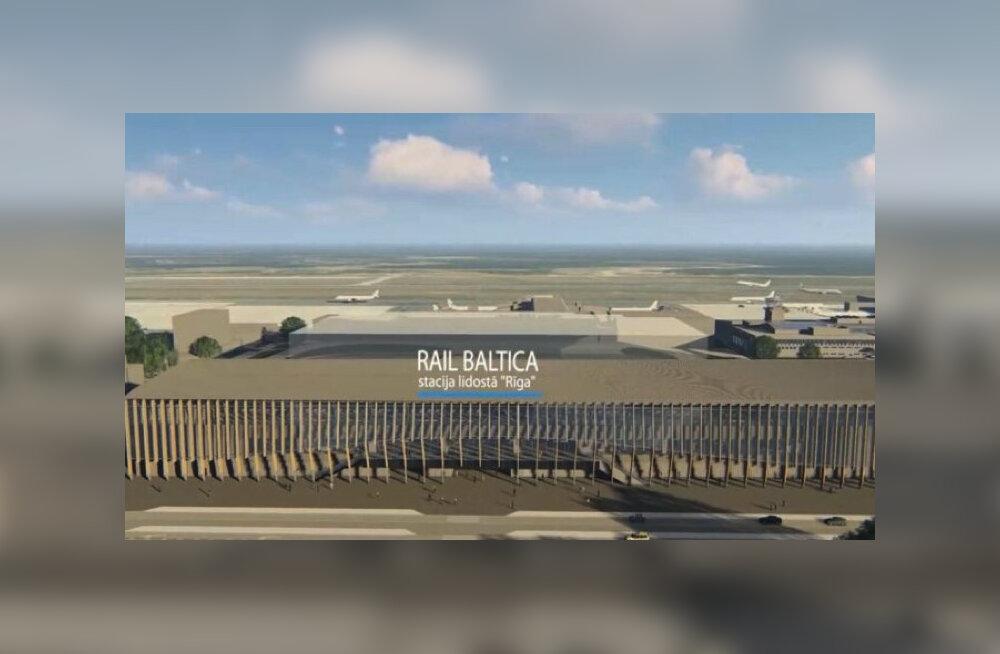ФОТО: Станция Rail Baltica в Рижском аэропорту обойдется в 250-280 млн евро