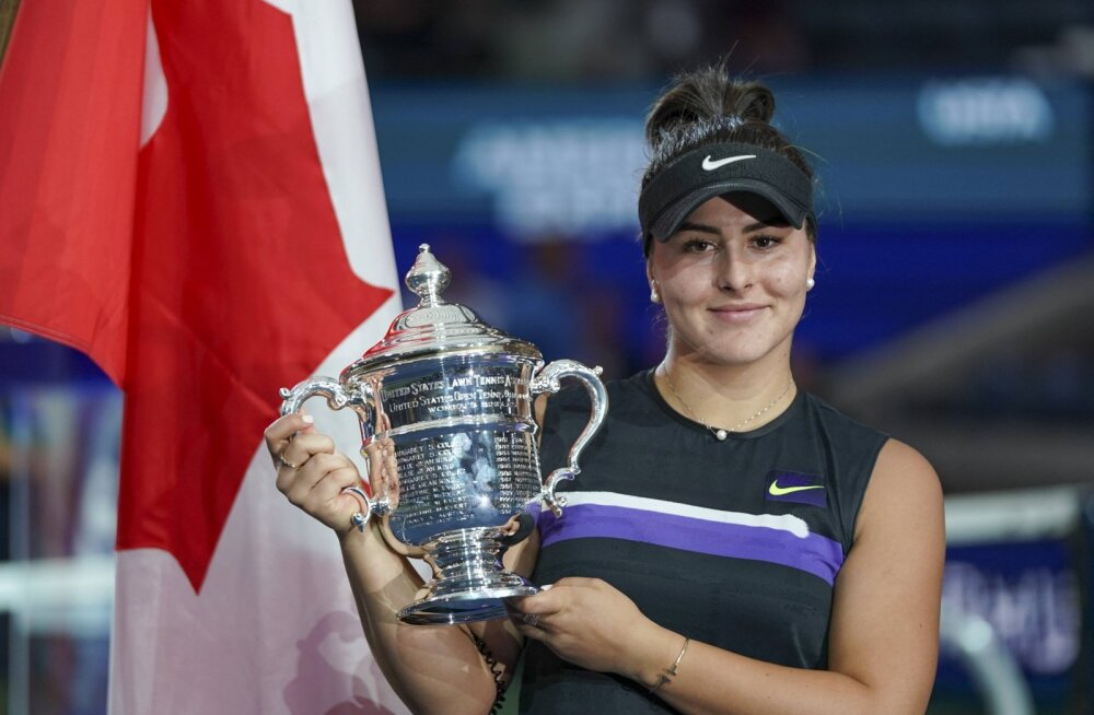US Openi valitsev tšempion Bianca Andreescu