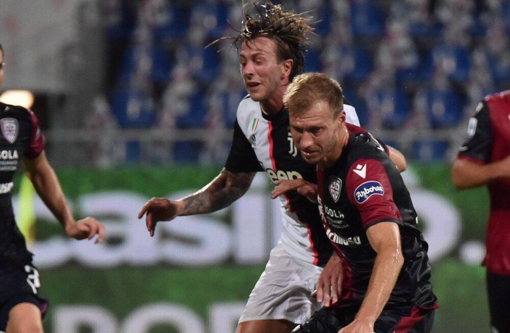 Ragnar Klavan kohtumises Torino Juventuse vastu.