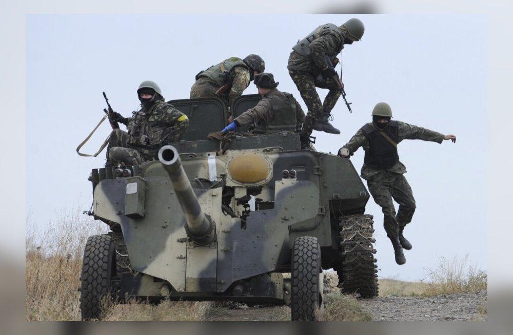 Ukraina suurtükivägi vastas ööpäeva jooksul mässuliste 47 tulelöögile 83-ga