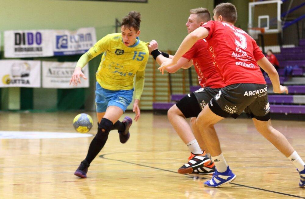 Käsipalli meistriliiga alustas: noorte snaipritega Viljandi oli üle meistriliiga debütandist