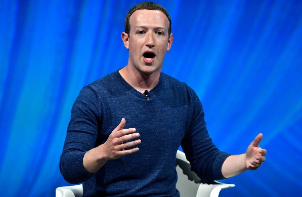 Facebooki asutaja ja tegevjuht Mark Zuckerberg.