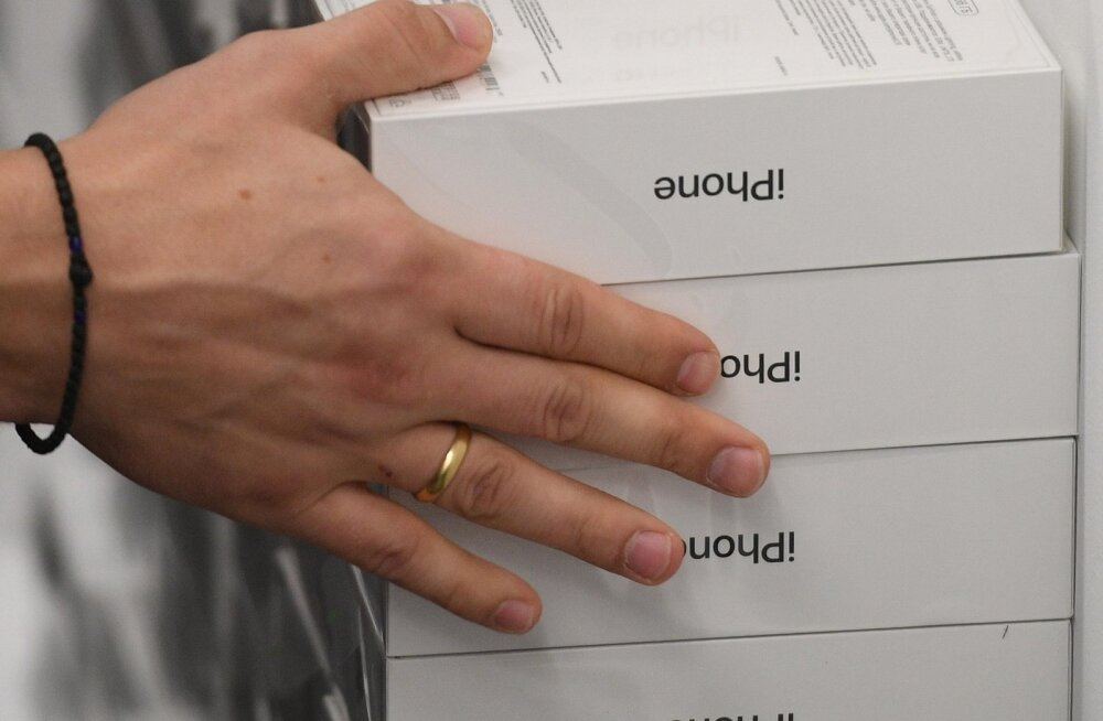 Tallinna suurtest kaubanduskeskustest peteti välja hulk uusi iPhone'i telefone