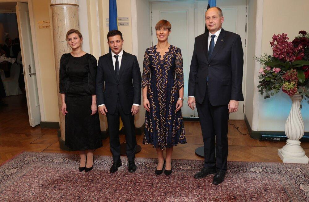 FOTOD | Vaata, mis toimus president Kersti Kaljulaidi ja Ukraina president Volodõmõr Zelenskõi pidulikul õhtusöögil Rahvusooper Estonias
