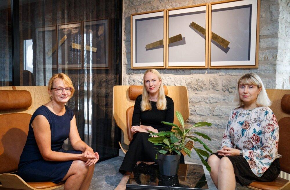 Eeli Lääne, Merlin Salvik ja Heidi Kakko – naised maailmas, kus seni veel tegutsevad peamiselt mehed.