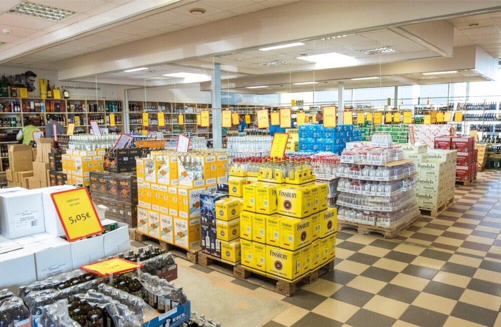 Alkoholi müük Lätis Alko 1000-s läheb aktsiisilangetuse järel ilmselt hästi.