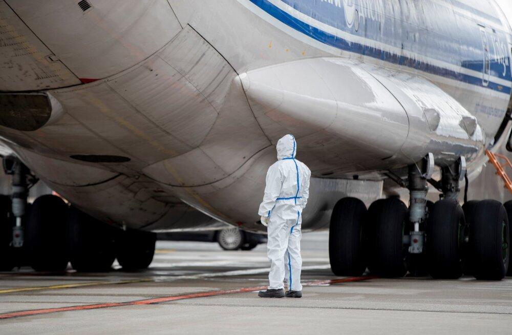 Kaitsevahendite jõudmine Tallinna lennujaama 2.04.2020