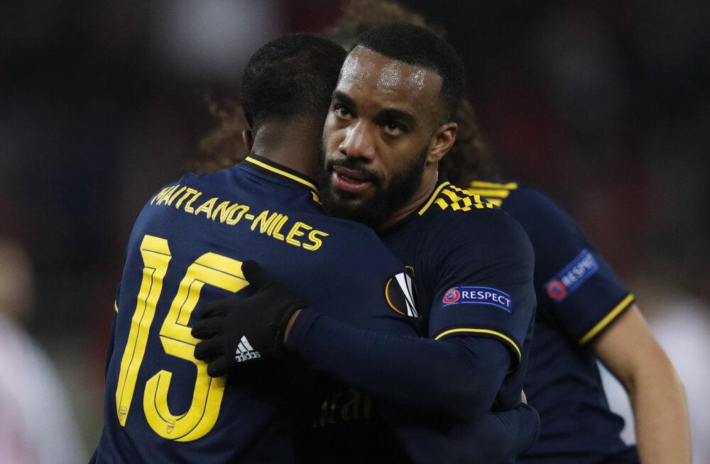 Euroopa liiga: Arsenal sai napi võidu, Wolverhampton lustis ja on ühe jalaga järgmises ringis