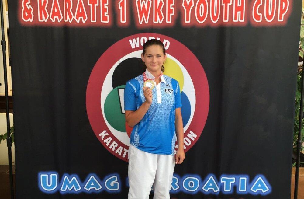 Karateka Li Lirisman võitis noorte maailma karikavõistlused