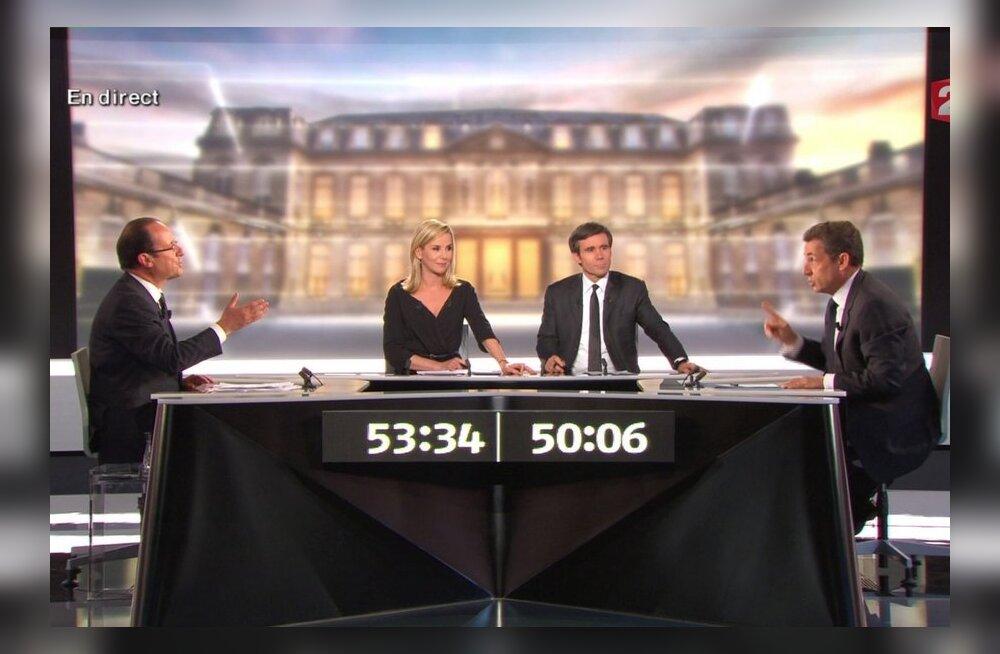 Teledebatt: Sarkozy nimetas Hollande'i valetajaks ja laimajaks, kuid jäi alla